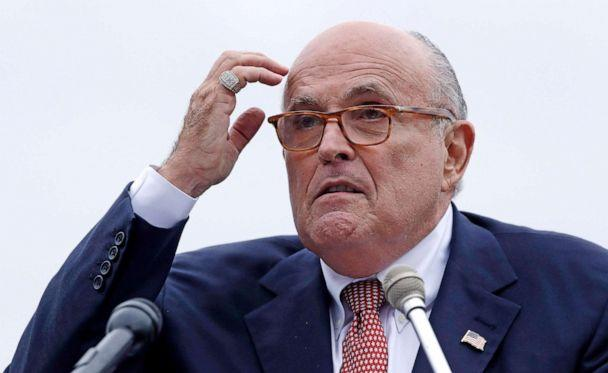 PHOTO: Rudy Giuliani, attorney for President Donald Trump, addresses a gathering during a campaign event in Portsmouth, N.H., Aug. 1, 2019. (Charles Krupa/AP, FILE)