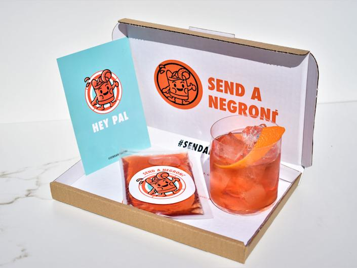 If you're too far apart to enjoy a drink at the pub with your friends, this is the next best thingSend a Negroni