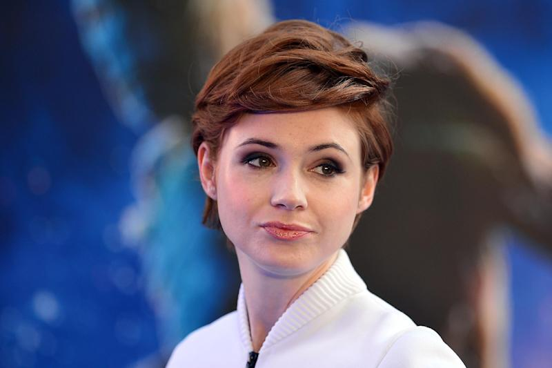 """British actress Karen Gillan plays Eliza Dooley in the ABC network's TV show """"Selfie,"""" about a social networking """"superstar"""" whose life is upended when she finds herself a laughing stock online due to an unfortunate viral video (AFP Photo/Carl Court)"""