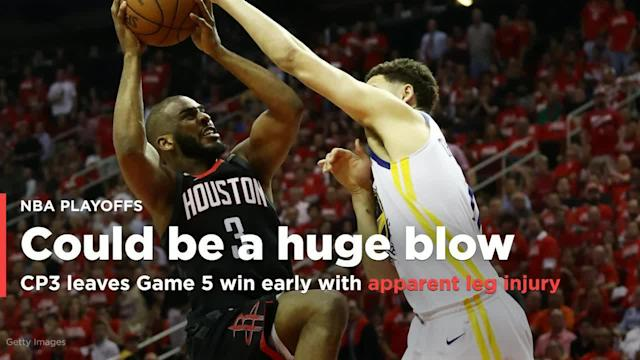 Chris Paul came up limping late in Houston's Game 5 win over Golden State and did not play in the final seconds after colliding with Quinn Cook.
