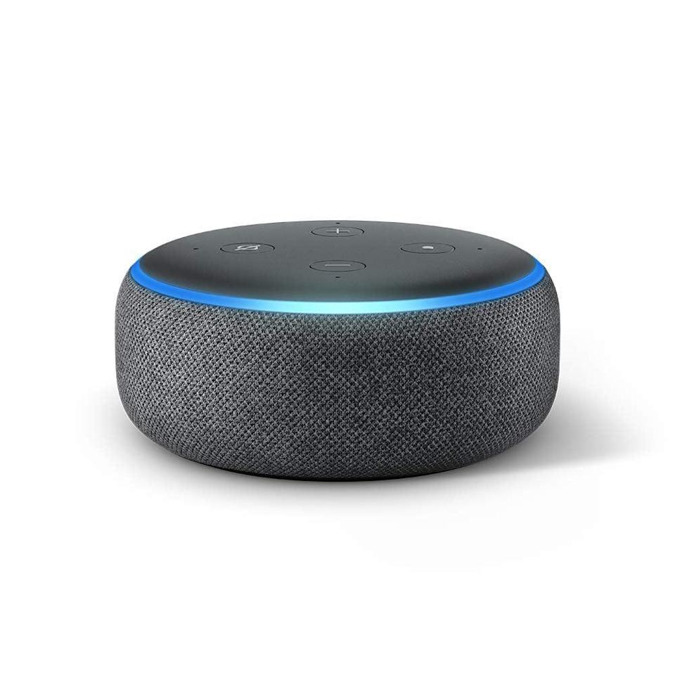 """<p>Alexa basically acts like your personal assistant. The second-generation <a href=""""https://www.popsugar.com/buy/Amazon-Echo-Dot-410842?p_name=Amazon%20Echo%20Dot&retailer=amazon.com&pid=410842&price=30&evar1=geek%3Aus&evar9=36026397&evar98=https%3A%2F%2Fwww.popsugar.com%2Ftech%2Fphoto-gallery%2F36026397%2Fimage%2F45606312%2FAmazon-Echo-Dot&list1=gifts%2Cgift%20guide%2Cdigital%20life%2Ctech%20gifts%2Cgifts%20for%20men&prop13=api&pdata=1"""" class=""""link rapid-noclick-resp"""" rel=""""nofollow noopener"""" target=""""_blank"""" data-ylk=""""slk:Amazon Echo Dot"""">Amazon Echo Dot</a> ($30, originally $50) allows you to easily make calls, check the weather, request rides, and more, completely hands-free.</p>"""