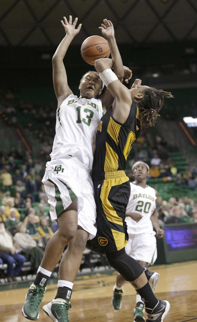 Sims 28 points, No. 10 Baylor women 110-55 over GS