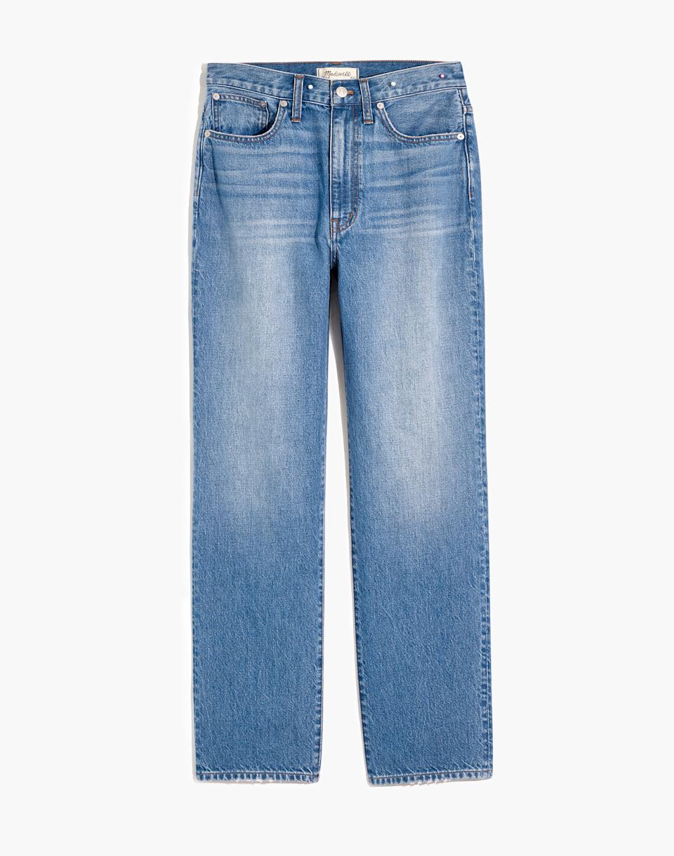 The Perfect Vintage Straight Jean in Moultrie Wash. Image via Madewell.