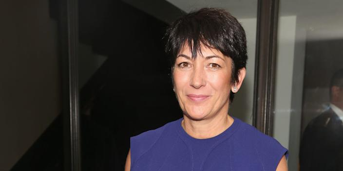 """Ghislaine Maxwell at Spring Studios in New York City on October 18, 2016. <p class=""""copyright"""">Sylvain Gaboury/Patrick McMullan via Getty</p>"""