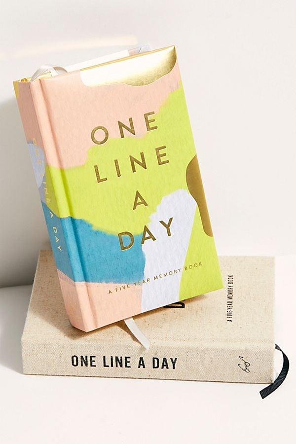 <p>Keep track of the next five years of your life with this cool <span>One Line A Day Journal</span> ($13).</p>