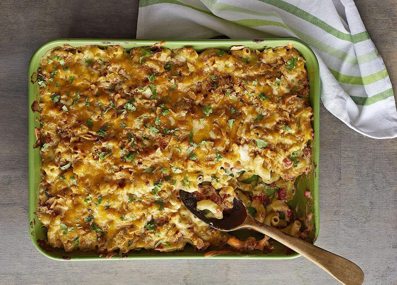"""<p>Chances are your <a href=""""https://www.goodhousekeeping.com/holidays/thanksgiving-ideas/g1918/thanksgiving-dinner-recipes/"""" target=""""_blank"""">Thanksgiving feast</a> is missing a side. No, we're not talking about <a href=""""https://www.goodhousekeeping.com/holidays/thanksgiving-ideas/g1355/turkey-stuffing-recipes/"""" target=""""_blank"""">stuffing</a>, <a href=""""https://www.goodhousekeeping.com/holidays/thanksgiving-ideas/g297/easy-mashed-potatoes-recipes/"""" target=""""_blank"""">mashed potatoes</a> and homemade biscuits — nor <a href=""""https://www.goodhousekeeping.com/food-recipes/cooking/g4815/how-to-make-brussels-sprouts/"""" target=""""_blank"""">Brussels sprouts</a>, <a href=""""https://www.goodhousekeeping.com/food-recipes/g657/sweet-potato-recipes/"""" target=""""_blank"""">sweet potatoes</a>, and <a href=""""https://www.goodhousekeeping.com/holidays/thanksgiving-ideas/g4728/green-bean-casserole-recipes/"""" target=""""_blank"""">green bean casseroles</a> (though these are all non-negotiable in our opinion!). We're talking gooey, decadent Thanksgiving mac and cheese. This cheesy crowd-favorite has a place among the more traditional Thanksgiving side dishes. Hear us out: It's cozy, typically <a href=""""https://www.goodhousekeeping.com/holidays/thanksgiving-ideas/g22801470/vegetarian-thanksgiving-recipes/"""" target=""""_blank"""">vegetarian</a>, delicious, goes great with turkey, <em>and</em> you don't have to do anything fancy to those leftovers. Just reheat and eat in your sweatpants (while you online shop ... <a href=""""https://www.goodhousekeeping.com/life/money/a28578157/black-friday-cyber-monday-deals-2019/"""" target=""""_blank"""">Black Friday</a> anyone?). </p><p>Plus, this dish is easy to customize, so whether its easy baked macaroni and cheese, stovetop mac and cheese, or any variation in-between, it can easily fit into your Turkey Day menu. Of course, our best <a href=""""https://www.goodhousekeeping.com/food-recipes/easy/g3687/best-macaroni-and-cheese-recipes/"""" target=""""_blank"""">mac and cheese</a> recipe goes with any theme, """