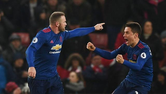 <p>What better way to start off our countdown than with the goal that saw Rooney become United's new all-time record goalscorer?</p> <br><p>Sir Bobby Charlton's record of 249 goals for the Red Devils had stood the test of time for 44 years, but no one was going to deny Rooney from overtaking a fellow legend in the scoring charts.</p> <br><p>The marksman's stunning free kick in January's 1-1 away at Stoke finally saw him pip Charlton to first place in the club's history, with the curling set piece from an acute angle arcing above everyone in the box - goalkeeper Lee Grant included - to nestle into the net.</p> <br><p>A strike that is worthy of writing his name into folklore at the club he spent 13 glorious years at.</p>