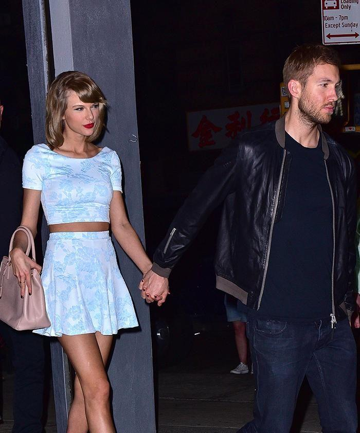 Taylor Swift and Calvin Harris. Photo: Getty