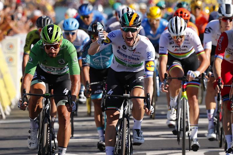 Deceuninck-QuickStep's Sam Bennett takes his first Tour de France stage victory on stage 10 of the 2020 race in Ile de Ré