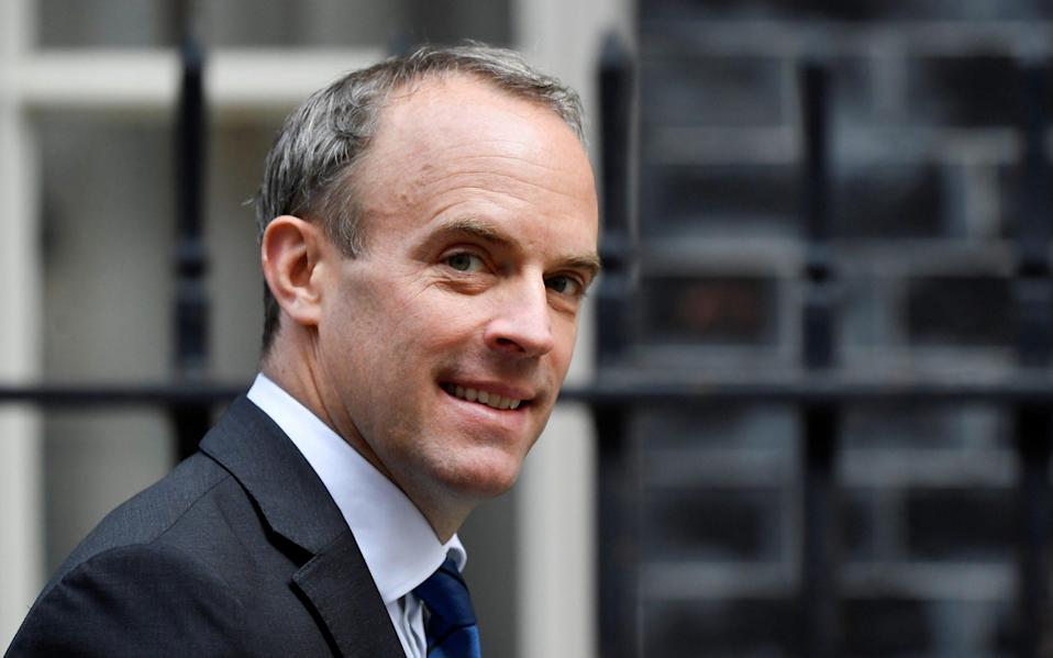 "Dominic Raab said the Government has ""considered all of the possibilities"" regarding quarantine"