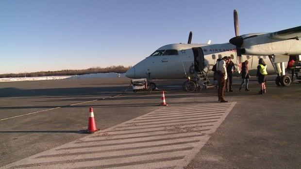 The Bathurst airport has been essentially empty for almost a year because Air Canada cut services during the pandemic. (CBC - image credit)