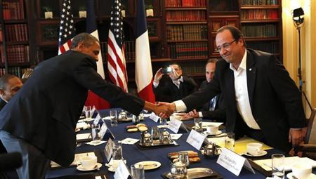 Obama and Hollande meet at the G8 Summit in Northern Ireland