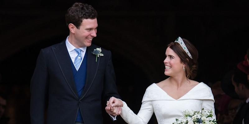 Princess Eugenie breaks royal tradition with wedding reception dress