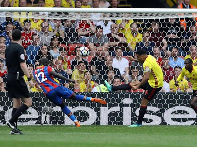 Crystal Palace edge six points clear of Premier League relegation zone after scrappy draw with Watford