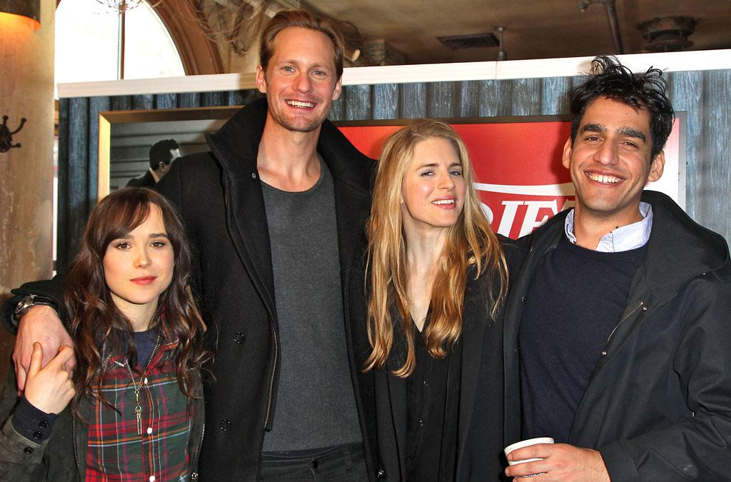 PARK CITY, UT - JANUARY 21:  (L-R) Ellen Page, Alexander Skarsgard, Brit Marling and Zal Batmanglij attend Day 3 of the Variety Studio At 2013 Sundance Film Festival on January 21, 2013 in Park City, Utah.  (Photo by Jonathan Leibson/Getty Images)