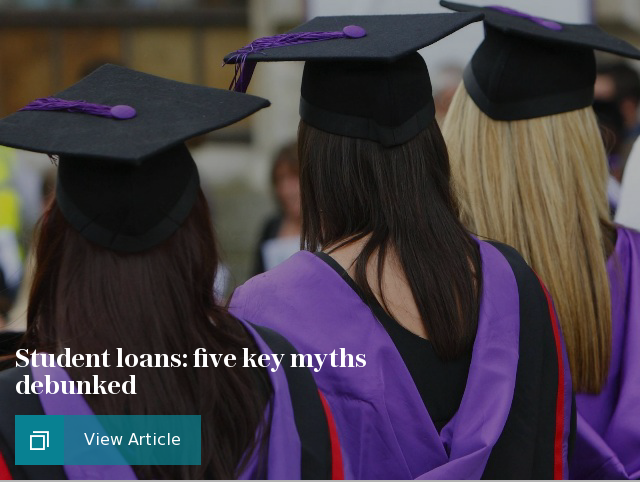 Student loans: five key myths debunked