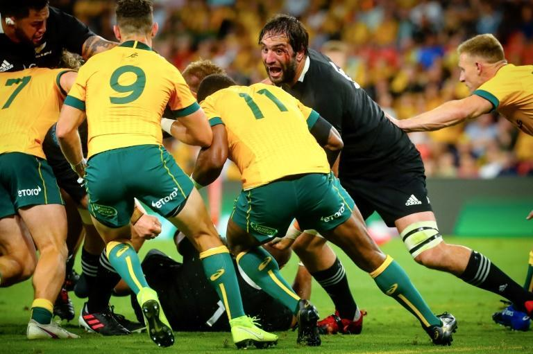 Twice the match was reduced to 14 players on 13 as red and yellow cards were brandished against the Wallabies and All Blacks in Brisbane