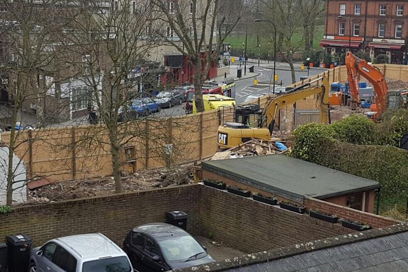 Blast: the explosion was on Swain's Lane in Highgate: Kim Gray / @ktbphotos
