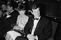 <p>At the premiere of Weekend at Dunkirk in 1964</p>