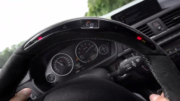 Bmw Steering Wheel Offers A Race Timer G Force Meter For Every Turn