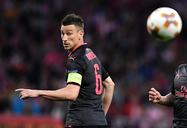 Arsenal's injured defender Laurent Koscielny has sent a letter of encouragement to the France World Cup squad (AFP Photo/GABRIEL BOUYS )