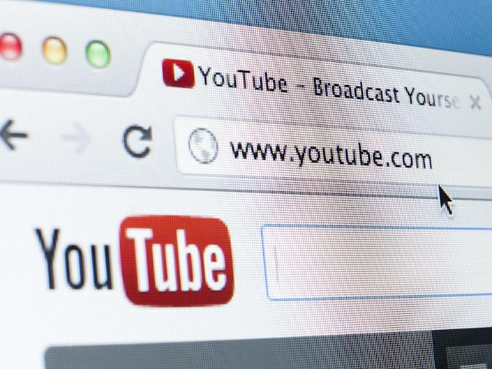 Youtube Homepage Close-up on LCD Screen, Chrome Web Browser: Getty Images