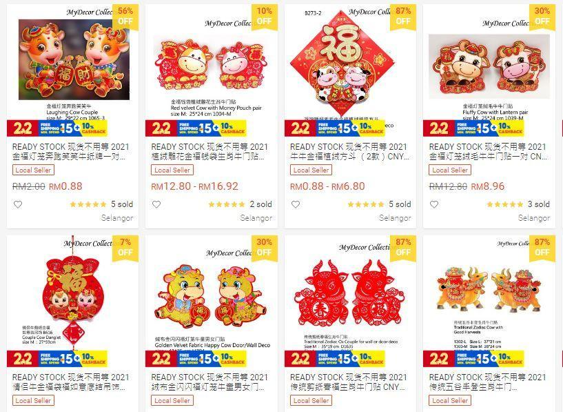 Ox-themed lunar new year decor sold by My Decor Collections