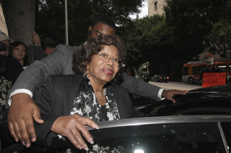 Katherine Jackson, Michael Jackson's mother, leaves court after a hearing for Jackson's doctor, Conrad Murray, Thursday Jan. 6, 2011 in Los Angeles. Prosecutors called a third witness Thursday who described frantic efforts by Murray, the doctor charged in Michael Jackson's death to gather medication from the floor of the bedroom where the singer died after receiving intravenous doses of a powerful anesthetic.  (AP Photo/Nick Ut)