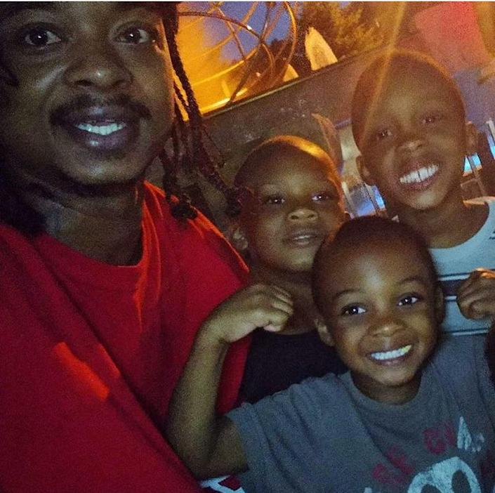 Jacob Blake is pictured with his children.
