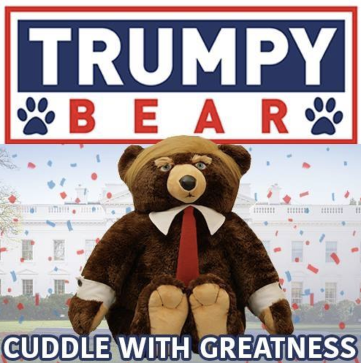 Trumpy Bear is for sale. (Photo: Trumpy Bear via Facebook)