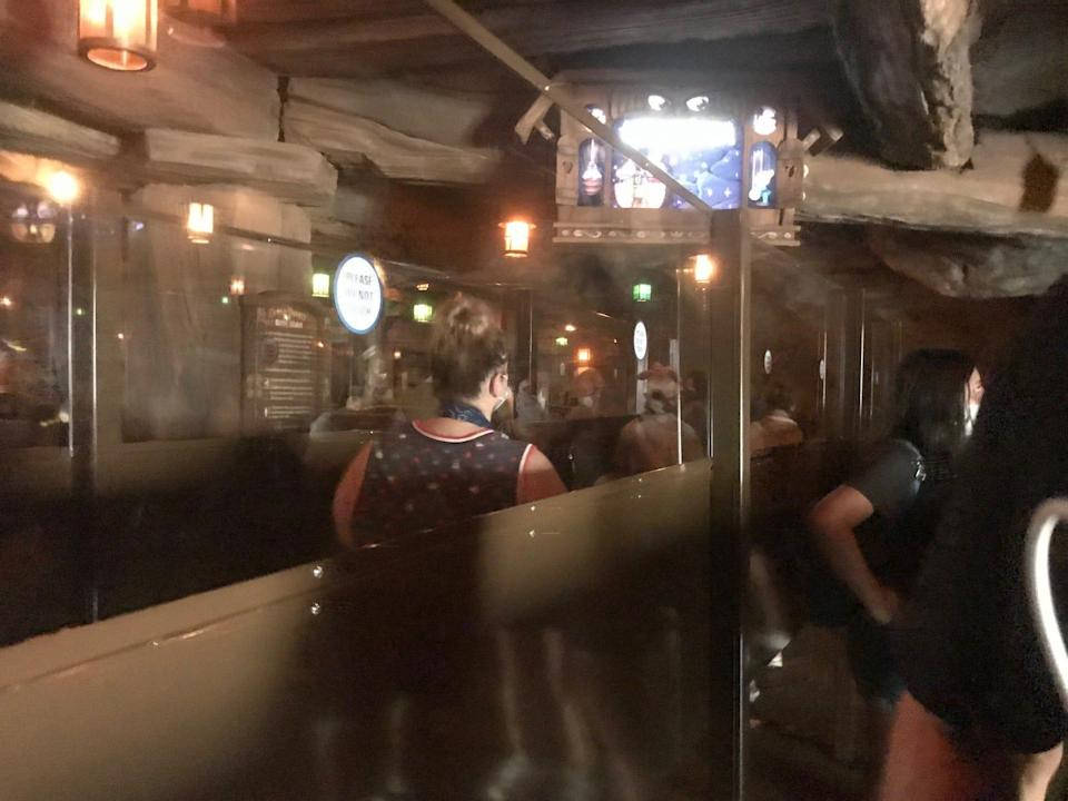 Tall partitions now divide the crowd going through line at Disney attractions, including Seven Dwarfs Mine Train at Magic Kingdom