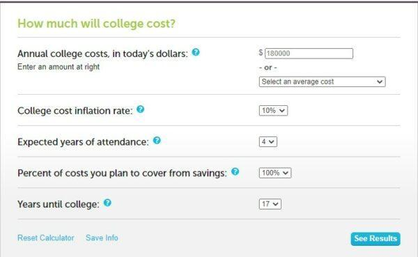 how to save up for tuition - college cost calculator