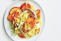 """We don't <em>just</em> love this plum recipe because it comes out so beautifully, but have you ever seen a prettier salad? <a href=""""https://www.epicurious.com/recipes/food/views/plum-fennel-salad-with-honey-ginger-dressing-56389860?mbid=synd_yahoo_rss"""" rel=""""nofollow noopener"""" target=""""_blank"""" data-ylk=""""slk:See recipe."""" class=""""link rapid-noclick-resp"""">See recipe.</a>"""