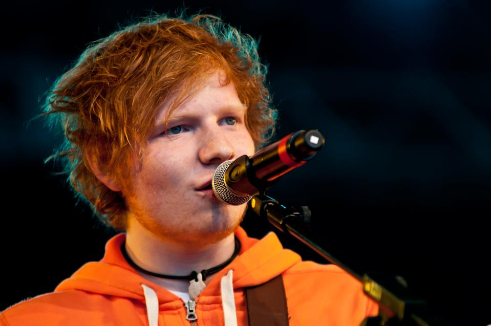PEMBREY, WALES - JUNE 17:  Ed Sheeran performs on stage during the 1st day of Beach Break Live Festival at Pembrey Country Park on June 17, 2011 in Wales, United Kingdom.  (Photo by Caitlin Mogridge/Redferns)