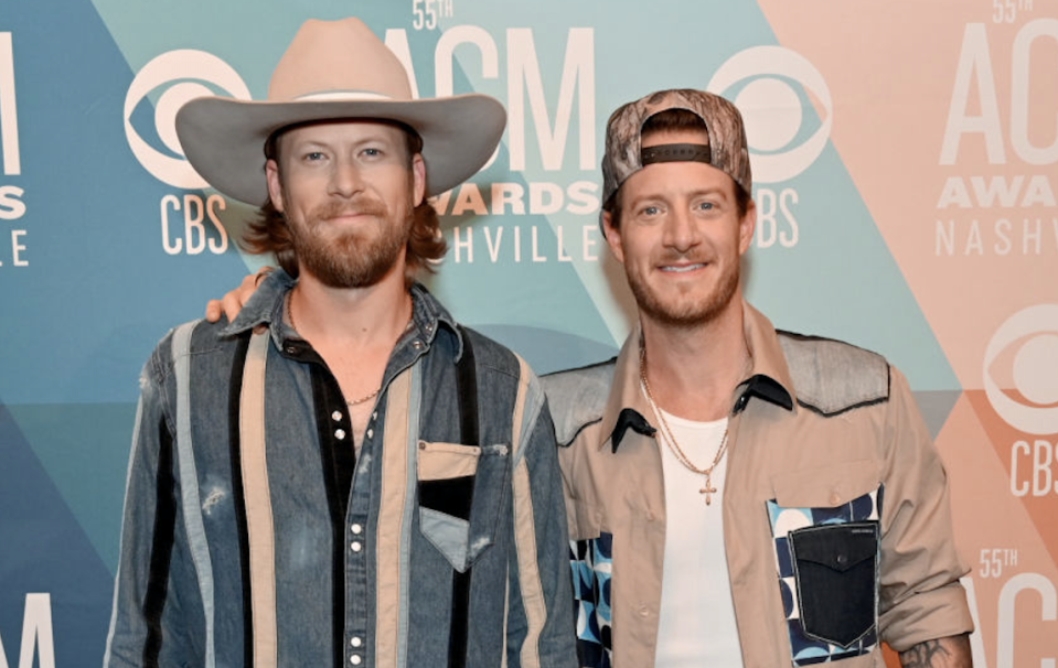 Florida Georgia Line's Brian Kelley, left, and Tyler Hubbard disagree on politics. (Photo: Jason Kempin/ACMA2020/Getty Images for ACM)