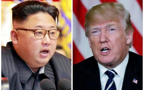 Kim Jong-un and Donald Trump are due to meet on June 12 in Singapore - Credit: Reuters/KCNA
