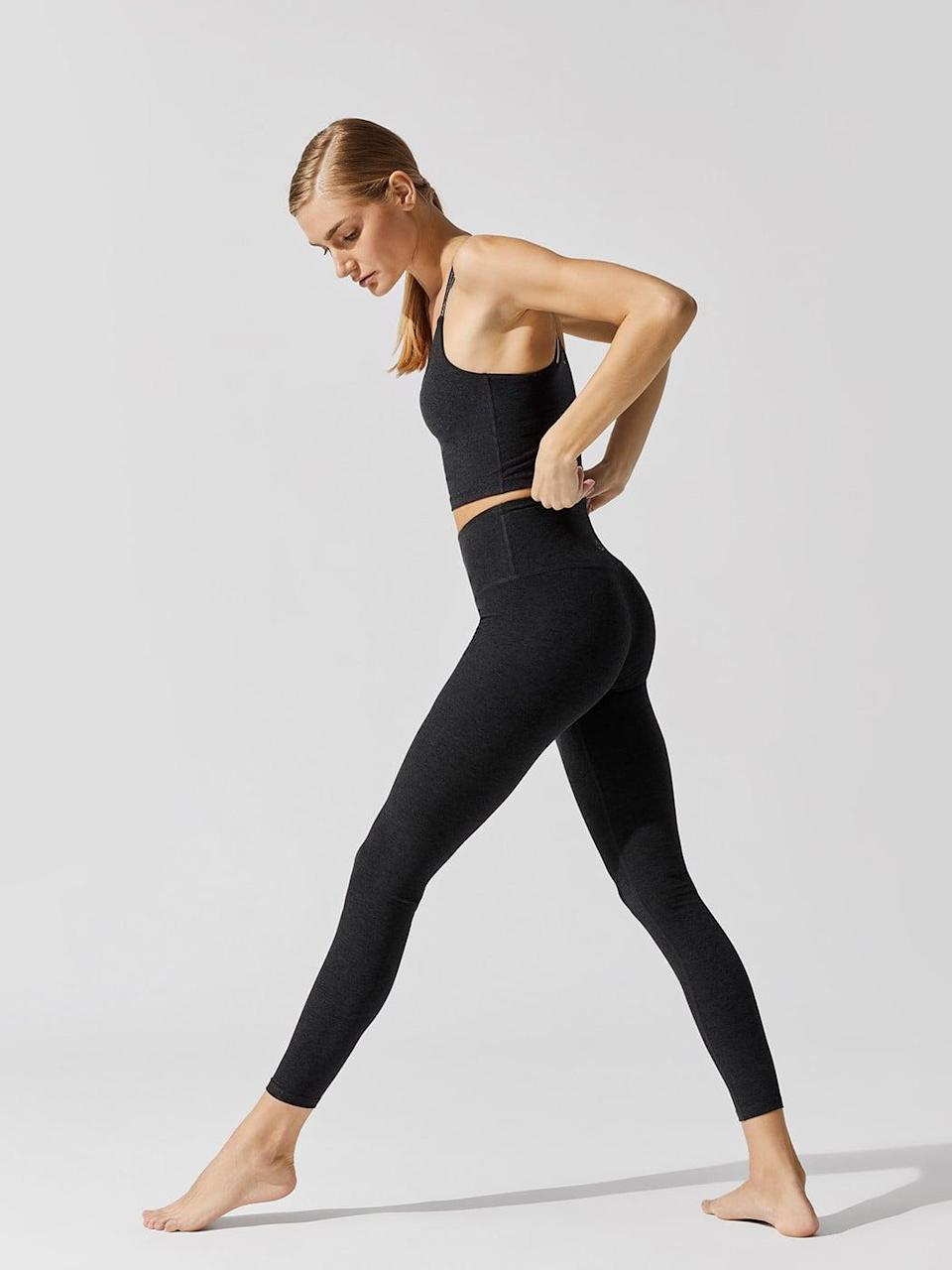 <p>These <span>Beyond Yoga Spacedye Caught 7/8 Leggings</span> ($97) are made of the softest material that you'll never want to take off.</p>