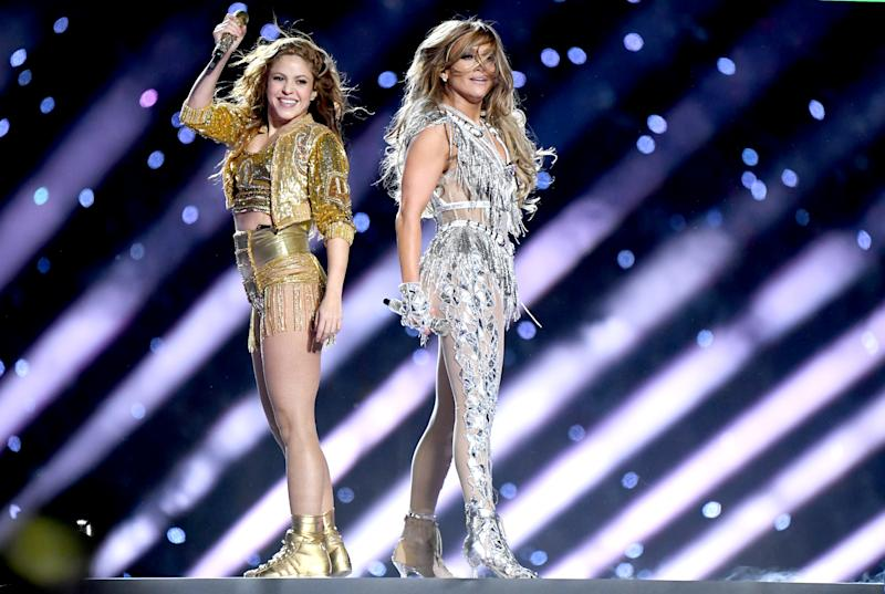Shakira y Jennifer Lopez en la Super Bowl 2020 en Miami. (Foto: Jeff Kravitz / Getty Images)