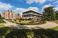 """<p>Looking for a little affordable luxury without the travel time? Wivenhoe House is a hotel near London serving up a mix of modern and traditional interiors with lip-smacking afternoon teas.</p><p>An ideal getaway for couples, the 18th century country house boasts grand features like oversized fireplaces, chandeliers and wall panelling with more modern-style bedrooms in the new wing. There's country walks aplenty and the seaside is just 5 minutes away for a refreshing beach stroll and authentic fish and chip dinners. And Colchester, Britain's oldest recorded town, is just a 10 minute drive for a culture fix.</p><p><strong>Distance from London by train:</strong> Between 47 minutes and an hour from London Liverpool Street.</p><p><strong>Red readers can enjoy</strong> <strong>two nights in luxury, with a five-course dinner for two with a glass of Prosecco on one evening, an afternoon tea for two, plus a bottle of wine with chocolate covered strawberries in your room on arrival.</strong></p><p><a class=""""link rapid-noclick-resp"""" href=""""https://www.redescapes.com/offers/essex-colchester-wivenhoe-house"""" rel=""""nofollow noopener"""" target=""""_blank"""" data-ylk=""""slk:FIND OUT MORE"""">FIND OUT MORE</a></p>"""