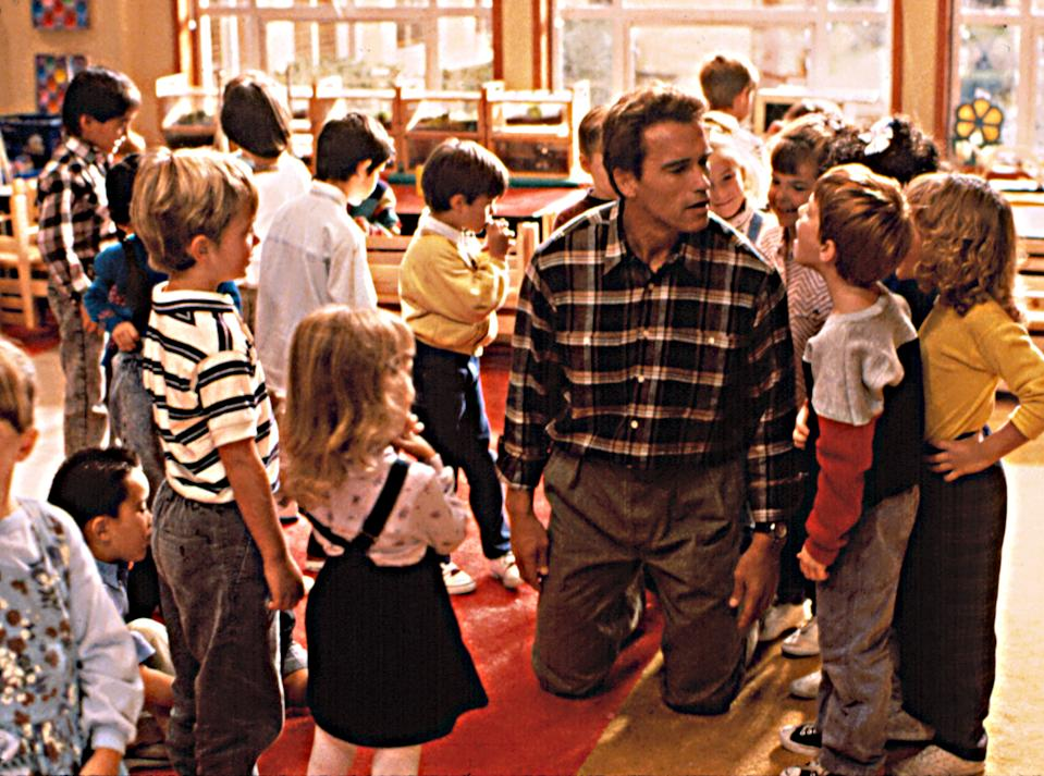 Arnold Schwarzenegger, and his kindergarten class in the 1990 favorite, 'Kindergarten Cop' (Photo: Universal/Courtesy Everett Collection)