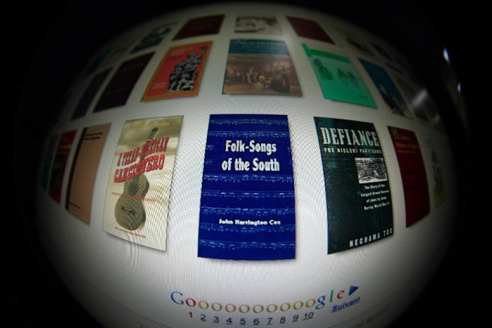 """A colossal project in which Google allows users to search books and see snippets of text is ruled """"fair use"""" under copyright law (AFP Photo/Joel Saget)"""
