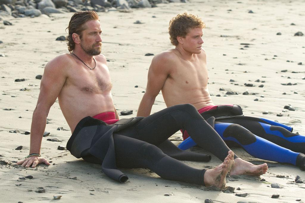 "Gerard Butler and Jonny Weston in 20th Century Fox's ""Chasing Mavericks"" - 2012"