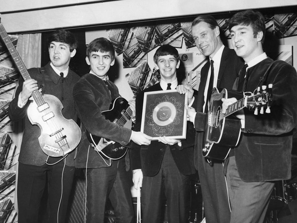 <p>The Fab Five: with George Martin, 1964</p>Rex