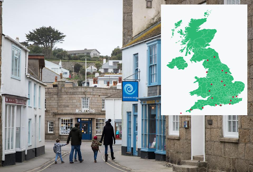 High streets on the Isles of Scilly are deemed to be most at risk, according to the analysis. (Matt Cardy/Getty Images)