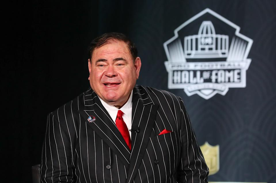 Pro Football Hall of Fame President David Baker will still be knocking on newly enshrinements' doors this year, just not the same way as years past. (Photo by Rich Graessle/PPI/Icon Sportswire via Getty Images)