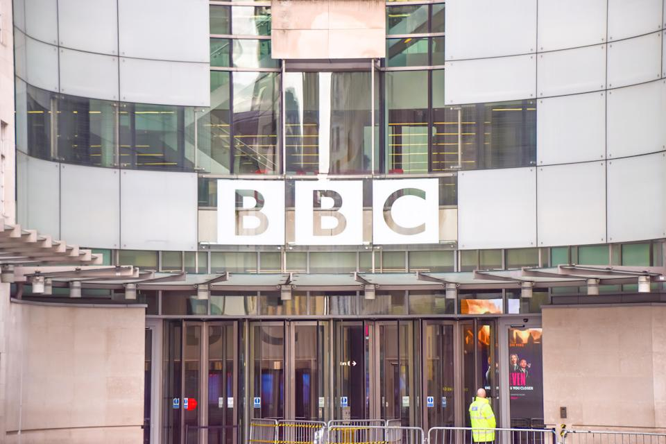 General view of the Broadcasting House, BBC headquarters in Central London. (Photo by Vuk Valcic / SOPA Images/Sipa USA)