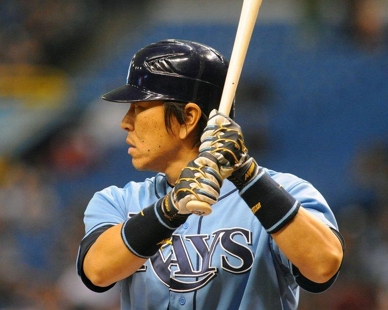 Hideki Matsui of the Tampa Bay Rays bats on July 22, 2012 at Tropicana Field in St. Petersburg, Florida