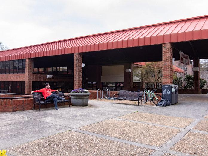 The University of Georgia's main campus hub, the Tate Student Center, is barren compared to its usually dense traffic of students, faculty, and visitors on Monday, March 16th. | <p>Caroline Head</p>
