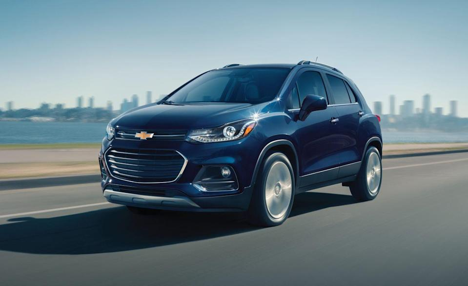 """<p>The <a href=""""https://www.caranddriver.com/chevrolet/trax/"""" rel=""""nofollow noopener"""" target=""""_blank"""" data-ylk=""""slk:Chevrolet Trax"""" class=""""link rapid-noclick-resp"""">Chevrolet Trax</a> can fit more luggage than bigger crossovers like the <a href=""""https://www.caranddriver.com/cadillac/xt4"""" rel=""""nofollow noopener"""" target=""""_blank"""" data-ylk=""""slk:Cadillac XT4"""" class=""""link rapid-noclick-resp"""">Cadillac XT4</a>. Its 60/40 split-folding rear seats and front passenger seat fold flat. This gives the Trax a leg up on the <a href=""""https://www.caranddriver.com/ford/ecosport"""" rel=""""nofollow noopener"""" target=""""_blank"""" data-ylk=""""slk:Ford EcoSport"""" class=""""link rapid-noclick-resp"""">Ford EcoSport</a>, <a href=""""https://www.caranddriver.com/nissan/rogue-sport"""" rel=""""nofollow noopener"""" target=""""_blank"""" data-ylk=""""slk:Nissan Rogue Sport"""" class=""""link rapid-noclick-resp"""">Nissan Rogue Sport</a>, and other vehicles with more rear cargo space. Maybe it's not the sharpest tool in the segment, but it's good at prioritizing space for those that need the extra wiggle room in a small package.</p><ul><li>Base price: $22,595</li><li>Carry-on capacity, rear seats folded: 19 suitcases</li><li>Cargo volume, rear seats folded: 48 cubic feet<br></li><li>Cargo volume, behind rearmost row of seats: 18 cubic feet</li></ul><p><a class=""""link rapid-noclick-resp"""" href=""""https://www.caranddriver.com/chevrolet/trax/specs"""" rel=""""nofollow noopener"""" target=""""_blank"""" data-ylk=""""slk:MORE TRAX SPECS"""">MORE TRAX SPECS</a></p>"""