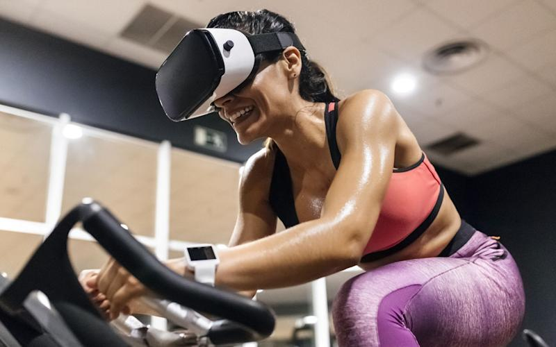 Could virtual reality make spin classes bearable? - REX/Shutterstock